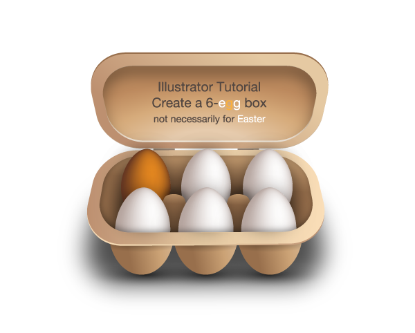 Create a 6-egg box (not necessarily for Easter)