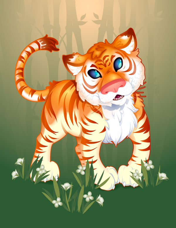 Creating an Adorable Strawberry Tiger in Adobe Illustrator