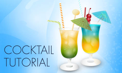 Illustrator Tutorial: How to Make an Icy Cocktail