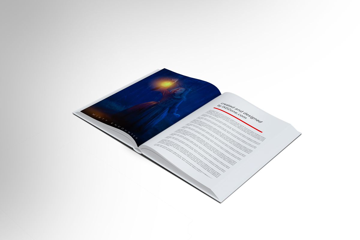 Download free psd mysterious book mockup design