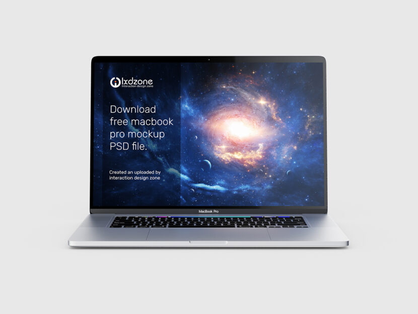Download free macbook pro mockup PSD file
