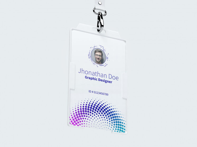 Download FREE Vertical ID Card Mockup