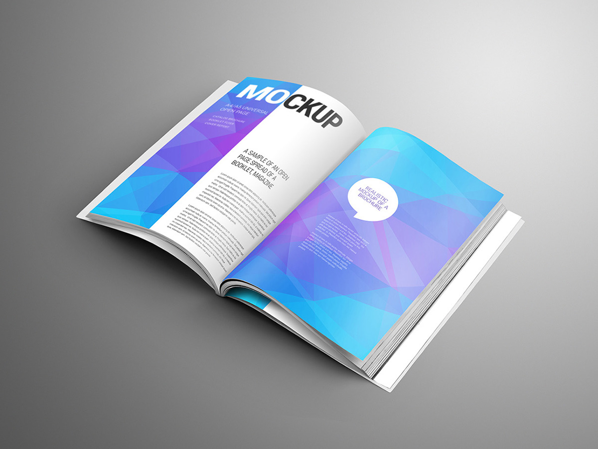 Download Free A4 Brochure Mockup