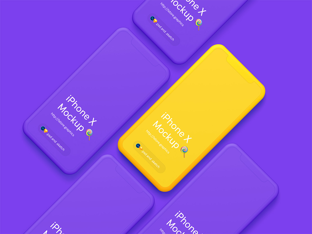 Download Free Simple iPhone-X-Mockups Design