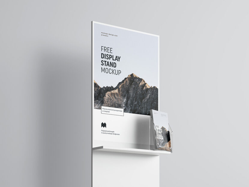 Downlead Free PSD poster display mockup
