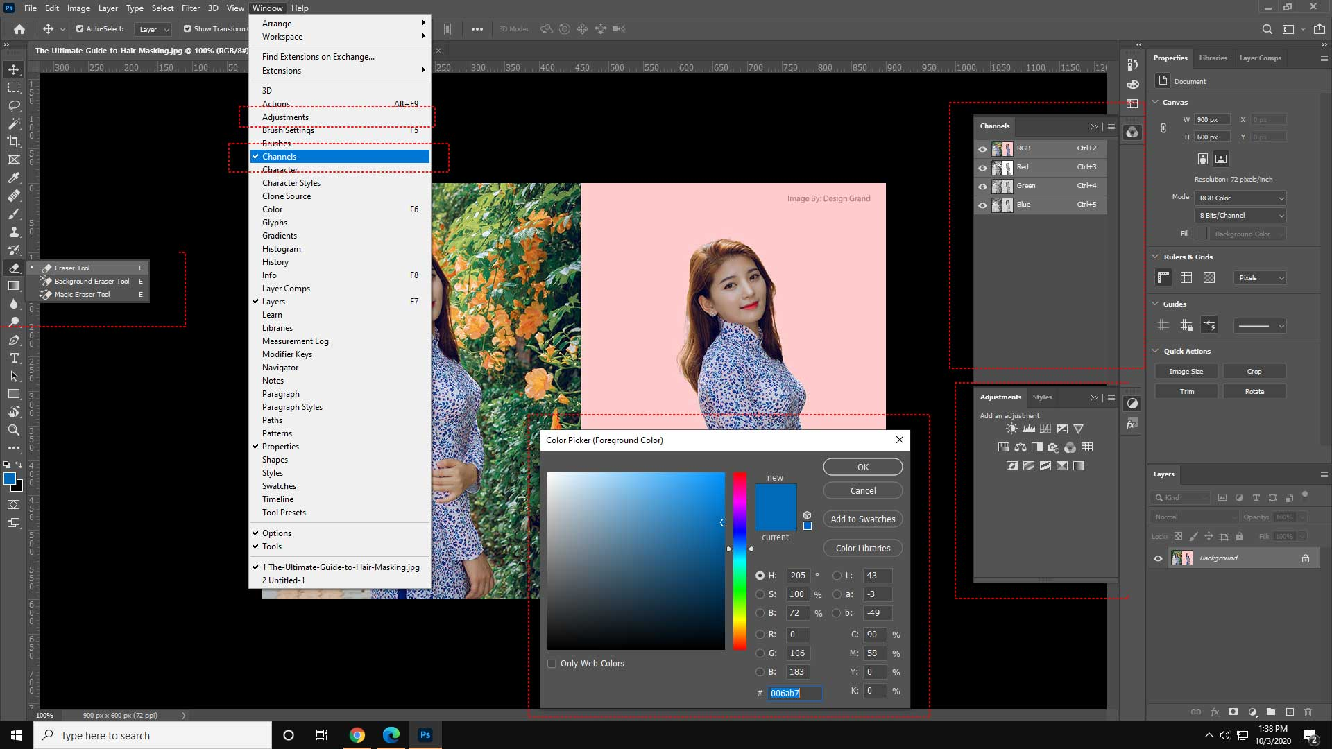 What is the art of image masking?
