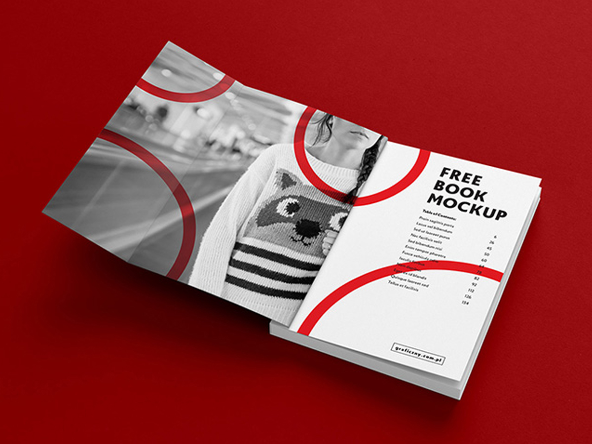 Download Free Book Include brochure in cover page mock-up