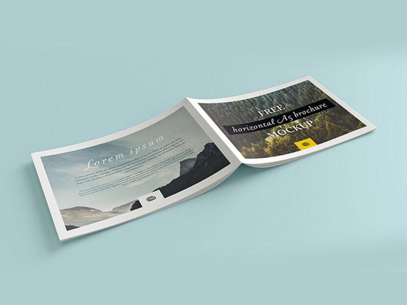 Download Free Landscape brochure mockup (PSD)
