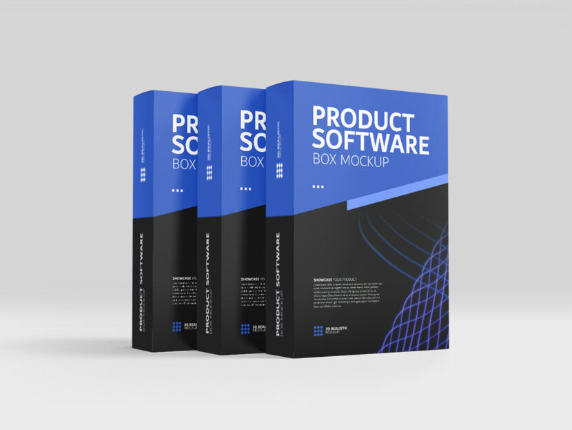 Download Free Product Software Box Mockup