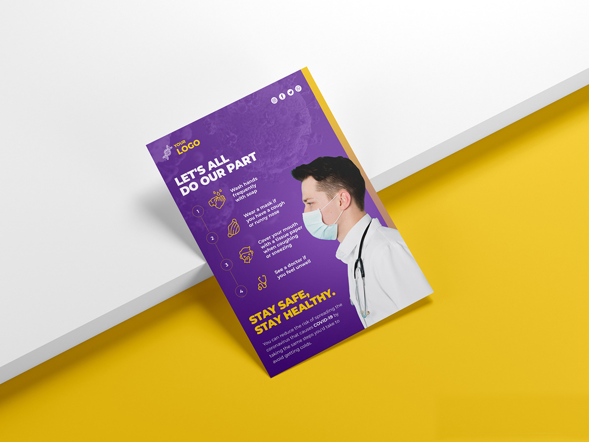 Download 5 Free Flyer Mockup