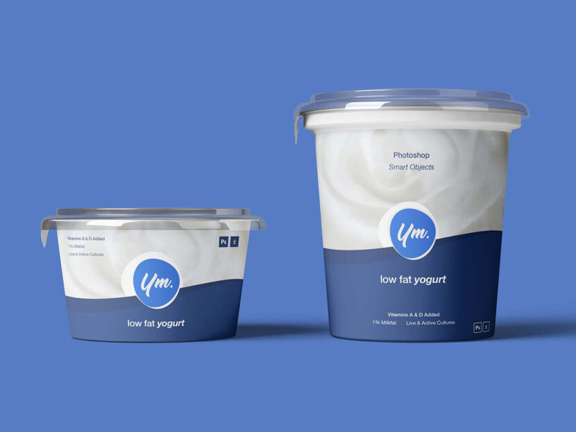 Download Free Yogurt Package Mockup