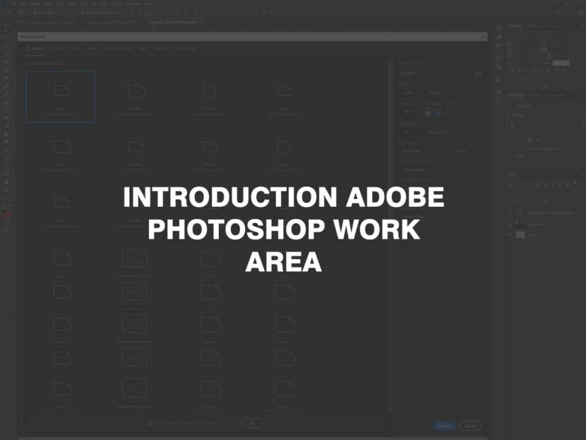 Introduction Adobe Photoshop work area