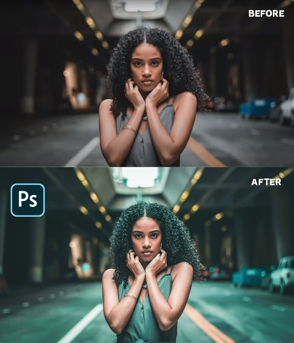 How to Make Teal Orange Cinematic Photo Effect: Photoshop Tutorial