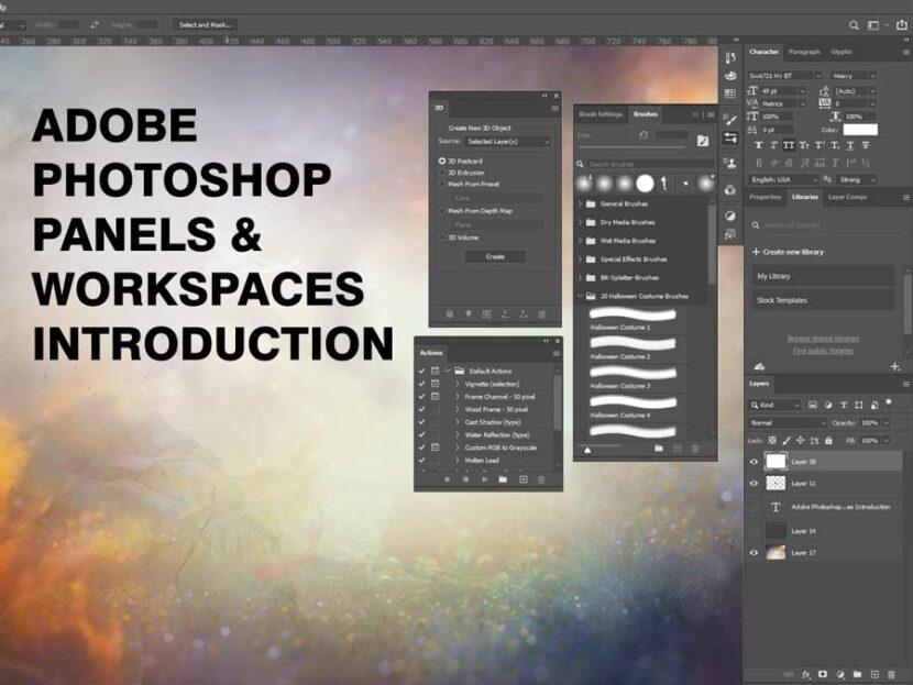 Adobe Photoshop Panels & Workspaces Introduction