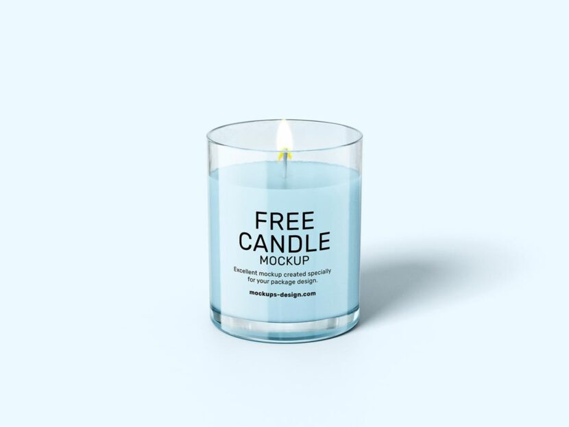 Download Free candle mockup