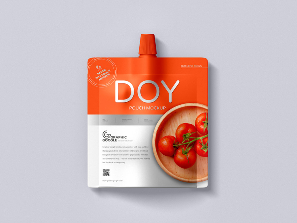 Download Free Paper Sauce Pouches Mockup